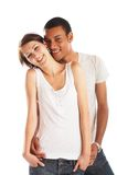 Groot Paar in Liefde Stock Foto's