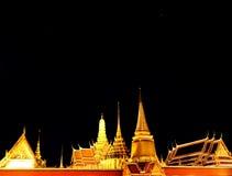 Groot paleis bij nacht Royalty-vrije Stock Afbeeldingen