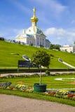 Groot Paleis bij Pertergof-Paleis Heilige-Petersburg, Rusland Royalty-vrije Stock Fotografie