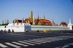 Groot Paleis en Wat Phra Kaeo in Bangkok Thailand Stock Foto