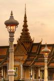 Groot paleis, Kambodja. Royalty-vrije Stock Foto's