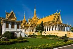 Groot paleis, Kambodja. stock foto