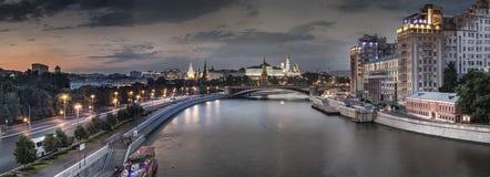 Groot panorama van Moskou Stock Afbeeldingen