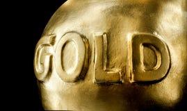 Groot passement van goud stock afbeelding