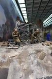 Groot Patriottisch Oorlogsmuseum in Boogheuvel Victory Park, Moskou, Rusland Royalty-vrije Stock Foto's