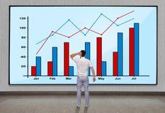 Groot plasma met grafiek royalty-vrije stock afbeelding