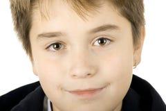 Groot portret van een jonge tienerjongen Stock Foto's