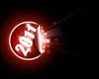 Groot rood etiket voor nieuw jaar 2011 Royalty-vrije Stock Foto