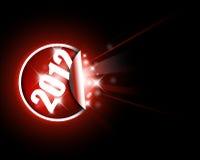 Groot rood etiket voor nieuw jaar Stock Foto's