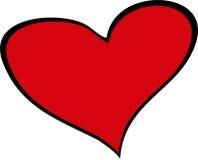 Groot rood hart Stock Afbeeldingen