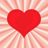 Groot Rood Hart Romantisch liefdesymbool van valentijnskaartdag Stock Afbeeldingen