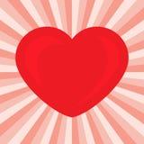 Groot Rood Hart Romantisch liefdesymbool van valentijnskaartdag Royalty-vrije Stock Foto's