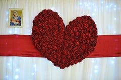 Groot rood hart van liefde Stock Afbeelding