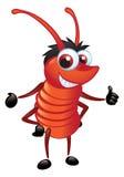 Groot Rood Insect met een Status van de Grijns Royalty-vrije Stock Afbeeldingen