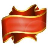 Groot rood lint Royalty-vrije Stock Foto's