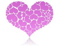Groot roze hart Stock Foto's