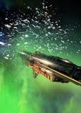 Groot ruimteschip stock afbeelding