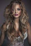 Groot schot van aantrekkelijk vrouwengezicht Stock Foto