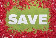 Groot sparen teken Royalty-vrije Stock Afbeelding