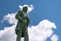 Groot standbeeld van Ulysses Grant in Loodglans stock foto's