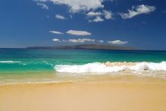 Groot Strand in Maui. Royalty-vrije Stock Fotografie