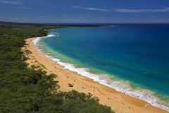 Groot Strand, Oneloa-Strand, Zuid-Maui, Hawaï, de V.S. Royalty-vrije Stock Afbeelding