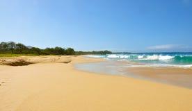 Groot strand op Maui Royalty-vrije Stock Foto's