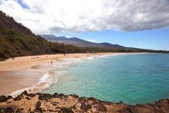 Groot Strand op Maui, Hawaï stock foto