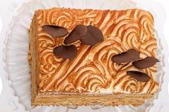 Groot Stuk van Cake Royalty-vrije Stock Afbeeldingen