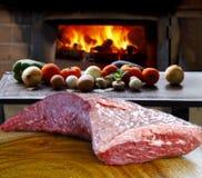Groot stuk van vlees royalty-vrije stock afbeeldingen