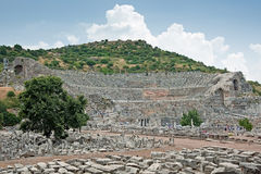 Groot Theater in Ephesus, Turkije Stock Fotografie