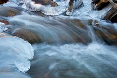 Groot Thompson River Flowing in Rocky Mountain National Park in Th stock fotografie