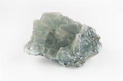 Groot Transparant Groen Fluorietkristal Stock Foto's