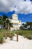 Groot tropisch huis in Florida Royalty-vrije Stock Foto
