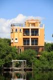 Groot tropisch huis in Florida Royalty-vrije Stock Afbeelding