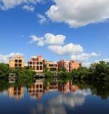 Groot tropisch huis in Florida Royalty-vrije Stock Afbeeldingen