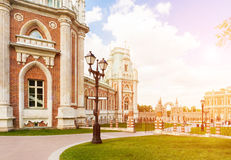 Groot Tsaritsyno-paleis royalty-vrije stock foto's