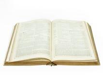 Groot uitstekend open bijbeldetail Stock Fotografie