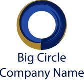 Groot van de het embleemmerknaam van het cirkelbedrijf ontworpen vector de illustratiesymbool wiel Royalty-vrije Stock Afbeelding
