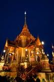 Groot van Thaise architectuur, fijnste kunst van Thai Royalty-vrije Stock Afbeelding