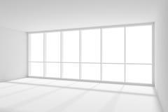 Groot venster in lege witte ruimte met zonlicht van vector illustratie