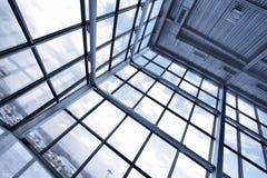 Groot venster van de industriële bouw stock foto's