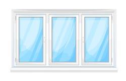 Groot venster vooraan Stock Fotografie
