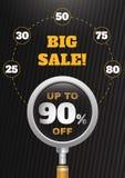 Groot verkoop infographic ontwerp Vector Malplaatje Royalty-vrije Stock Fotografie