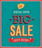 Groot verkoop typografisch ontwerp. Stock Foto's