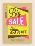 Groot verkoopvlieger, malplaatje of bannerontwerp Stock Foto
