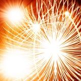 Groot vuurwerk stock illustratie