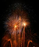 Groot vuurwerk royalty-vrije stock fotografie
