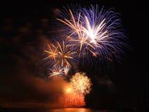 Groot vuurwerk Stock Foto's