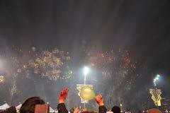 Groot vuurwerk Servië royalty-vrije stock foto